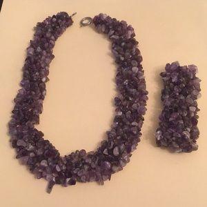 Jewelry - Purple necklace and bracelet